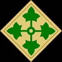 4th Inf Division Shoulder Patch image. Click for full size.