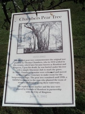 Chambers Pear Tree Marker image. Click for full size.