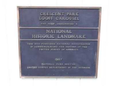 Crescent Park Looff Carousel Marker image. Click for full size.