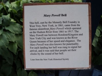 <i>Mary Powell</i> Bell Marker image. Click for full size.