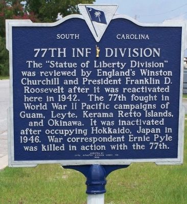 77th Inf Division Marker image. Click for full size.