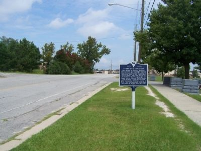 77th Inf Division Marker, looking north on Jackson Blvd. image. Click for full size.
