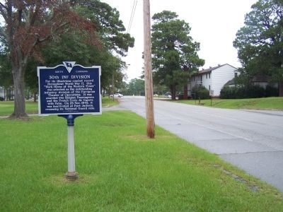 30th Inf Division Marker, northbound view from Jackson Blvd. image. Click for full size.