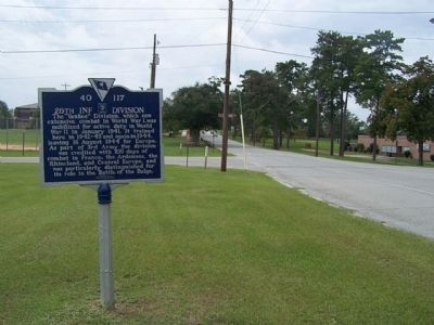 26th Inf Division Marker, southbound on Jackson Blvd. image. Click for full size.