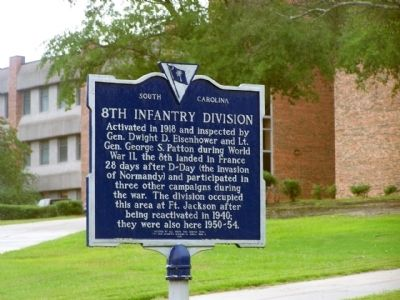 8th Infantry Division Marker image. Click for full size.