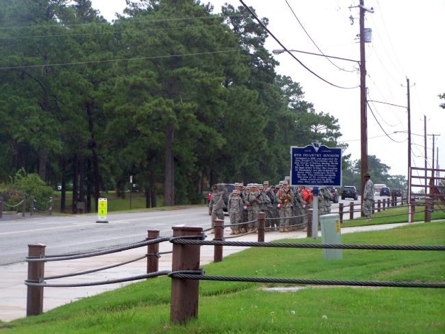 8th Infantry Division Marker, seen looking north along Jackson Blvd. image. Click for full size.