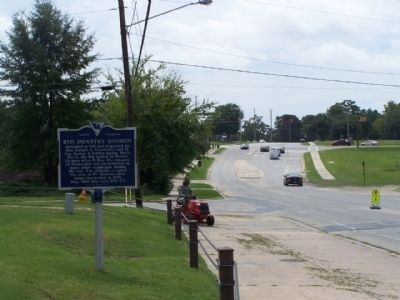 8th Infantry Division Marker, looking south along Jackson Blvd. near Johnson Street image. Click for full size.