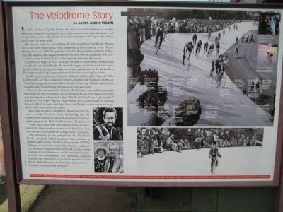 The Velodrome Story Marker image. Click for full size.