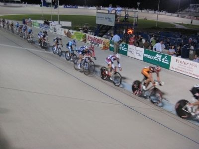 Racing action at the velodrome image. Click for full size.