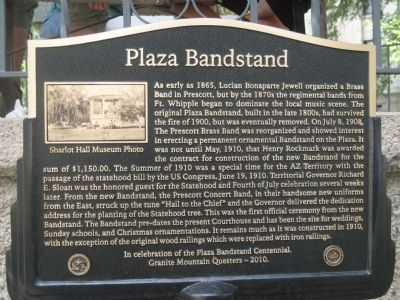 Plaza Bandstand Marker image. Click for full size.