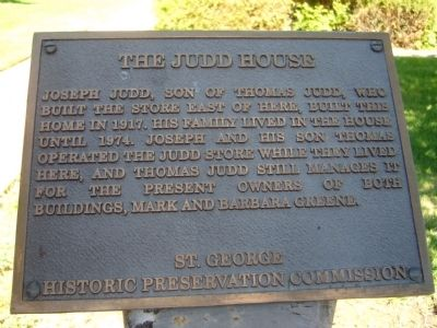 The Judd House Marker image. Click for full size.