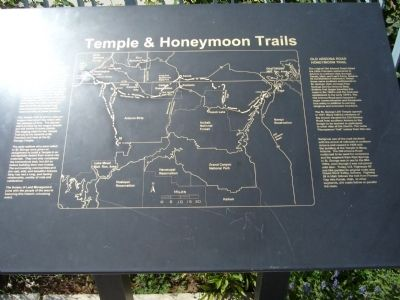 The Temple & Honeymoon Trails Marker image. Click for full size.