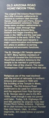 The Honeymoon Trail Marker text image. Click for full size.