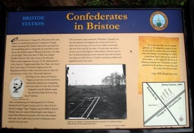 Confederates in Bristoe Marker image. Click for full size.