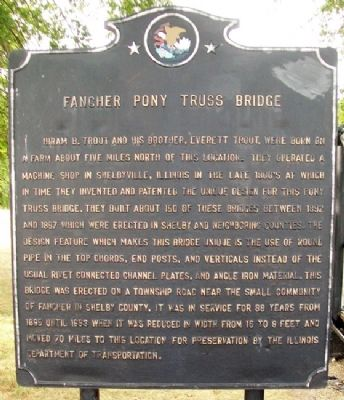 Fancher Pony Truss Bridge Marker image. Click for full size.
