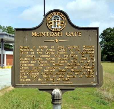 McIntosh Gate Marker image. Click for full size.