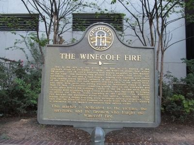 The Winecoff Fire Marker image. Click for full size.