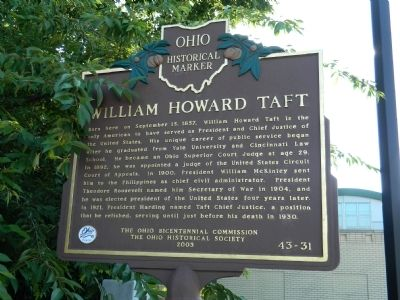 William Howard Taft Marker image. Click for full size.