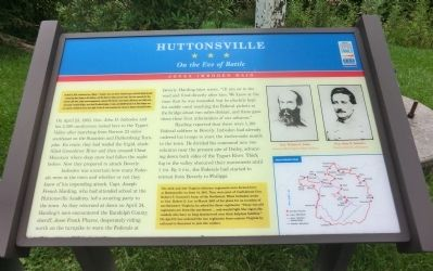 Huttonsville Marker image. Click for full size.