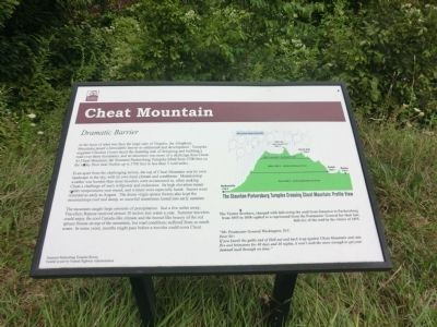 Cheat Mountain Marker image. Click for full size.