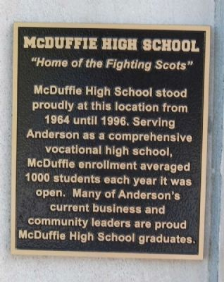 McDuffie High School Marker image. Click for full size.