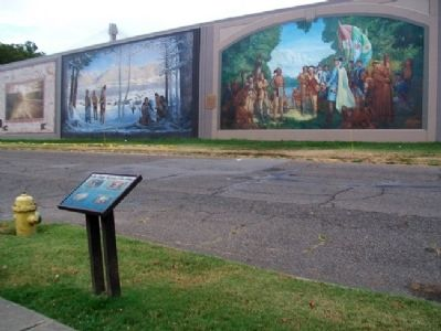Scioto County, Experience Our Heritage Marker and Murals image. Click for full size.