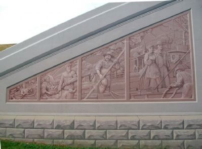 Faux Reliefs Mural at East End of Floodwall Murals image. Click for full size.