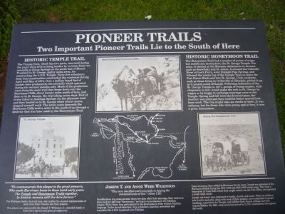 Pioneer Trails Marker image. Click for full size.