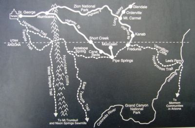 Map on Pioneer Trails Marker image. Click for full size.