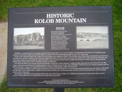 Historic Kolob Mountain Marker image. Click for full size.
