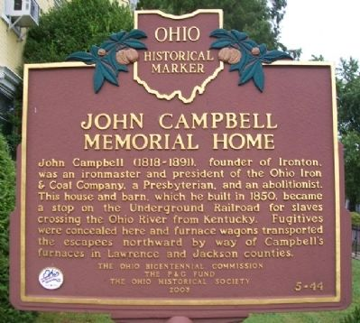 John Campbell Memorial Home Marker image. Click for full size.