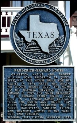 Frederich-Erhard House Marker image. Click for full size.