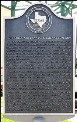 Gulf, Colorado,& Santa Fe Railway Company Marker image. Click for full size.