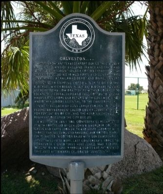 Galveston, C. S. A. Marker image. Click for full size.