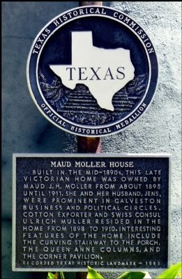 Maud Moller House Marker image. Click for full size.