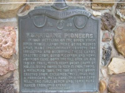 Hurricane Pioneers Marker image. Click for full size.