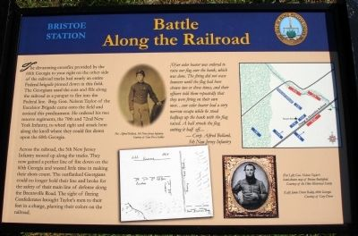 Battle Along the Railroad Marker image. Click for full size.