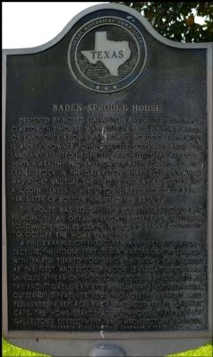 Baden-Sproule House Marker image. Click for full size.