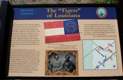 "The ""Tigers"" of Louisiana Marker image. Click for full size."