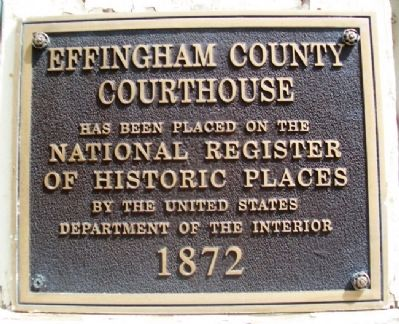 Effingham County Courthouse NRHP Marker image. Click for full size.