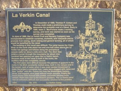 La Verkin Canal Marker image. Click for full size.
