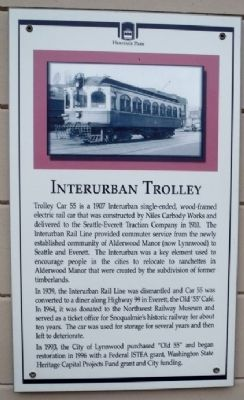 Interurban Trolley Marker image. Click for full size.