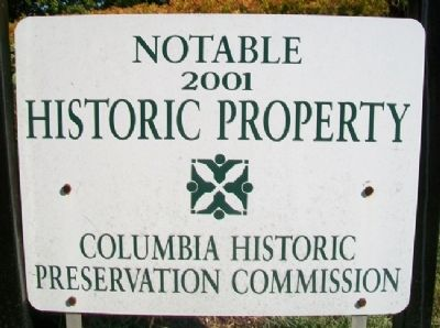 Columbia Cemetery Notable Property Marker image. Click for full size.
