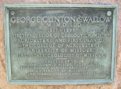 George Clinton Swallow Grave Marker image. Click for full size.