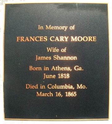 Frances Cary Moore Shannon Marker image. Click for full size.