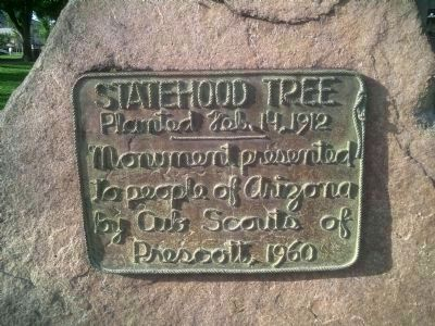 Statehood Tree Marker image. Click for full size.