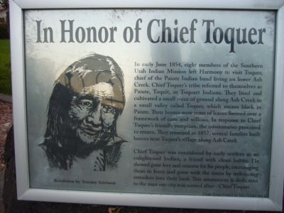 In Honor of Chief Toquer Marker image. Click for full size.