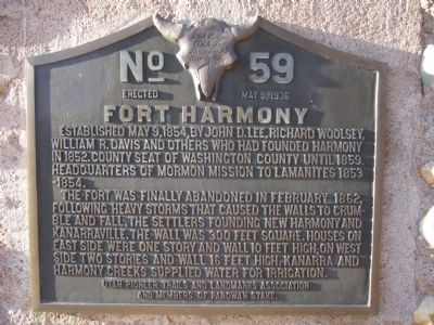 Fort Harmony Marker image. Click for full size.