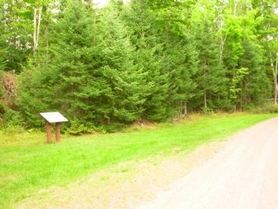 Flambeau Trail – Turtle Flambeau Flowage Dam Marker image. Click for full size.
