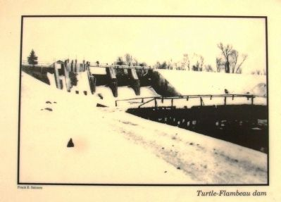 Roddis Line – Turtle-Flambeau Dam Marker image. Click for full size.
